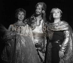Beverly Sills,Justinio Diaz,Marilyn Horne in 'L'assedio di Corinto,Scala,1969