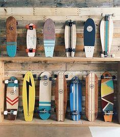 skate surf sup decks boards Skate Longboard, Longboard Design, Skateboard Deck Art, Skateboard Design, Surfboard Art, Vintage Skateboards, Cool Skateboards, Cruiser Boards, Skate Girl