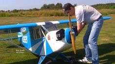 Worlds Biggest RC Clip Wing Cub 50% scale Air plane