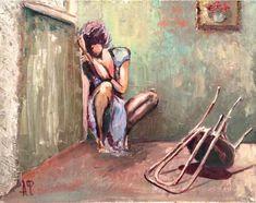 """Арина Федчина """"Расставание"""". ( Опубликовано в Фэйсбуке на странице художника.)"""