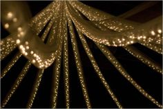 The 1920's was all about the glitz and glamour. This stunning draping which also incorporates fairy lights can transform a venue and would look amazing at a 1920's themed party!