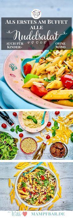 Dieser leckere Nudelsalat ist ganz schnell gemacht und super für euer nächstes Sommerfest mit euren Kindern. Klick hier für das Rezept und viele weitere leckere Ideen für deine ganze Familie.