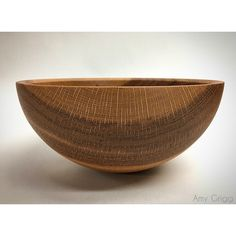 Amy Grigg White Oak bowl. Woodworker woodworking woodturning wooden bowls