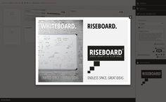 Lade Bilder oder beliebige Dateien als Attachments zu einer Kachel. http://www.riseboard.com