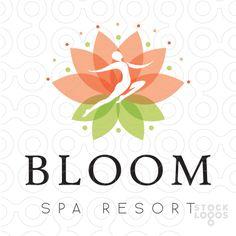 Exclusive Customizable Logo For Sale: Lotus Bloom Flower Women | StockLogos.com