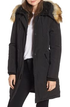 online shopping for Sam Edelman Faux Fur Trim Down Jacket from top store. See new offer for Sam Edelman Faux Fur Trim Down Jacket Best Winter Coats, Winter Coats Women, Coats For Women, Winter Jackets, Ladies Coats, Cozy Winter, Bomber Coat, Parka Coat, Faux Fur Collar Coat