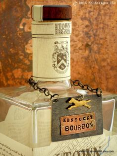The  Bourbon Bottle Tag Collection  The Riveted Series  by Sycamore Hill, $44.00 Kentucky Bourbon Decanter Label Liquor Stock the Bar