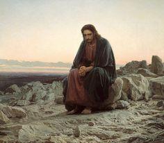 Христос в пустыне (Иисус в пустыне) [Ivan Kramskoy - Christ in the Wilderness]. Иван Николаевич Крамской