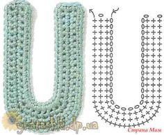 Crochet Letters Pattern, Crochet Alphabet, Letter Patterns, Applique, Accessories, Alphabet Letters, Bedroom Wall, Wall Hangings, Ideas
