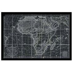 Oliver Gal 'Africa Map 1829' Framed Art Print (€355) ❤ liked on Polyvore featuring home, home decor, wall art, black, map home decor, framed wall art, black wall art, black home decor and map wall art