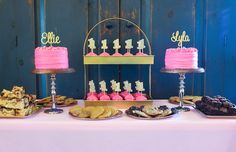 Pink & Gold First Birthday Party - Ellie & Lyla turn One! #Twins