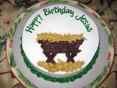 Happy Birthday Jesus Cake for Christmas Eve Tradition