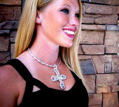 Swarovski Crystal Cross Necklace.