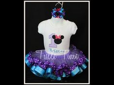 How to make a ribbon trim tutu (Minnie Mouse) - YouTube