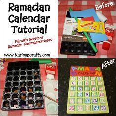 My 2 girls have been busy this week making their Ramadan Calendars! I took some photos as they made them so that I could make a tutorial . Ramadan 2016, Islam Ramadan, Ramadan Mubarak, Eid Crafts, Ramadan Crafts, Ramadan Decorations, Ramadan Activities, Craft Activities, Summer Crafts For Kids