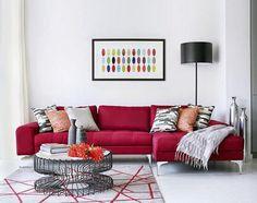 El rojo en la decoración de interiores