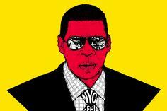 Jay-Z  Illustrazione di Marco Klefisch.