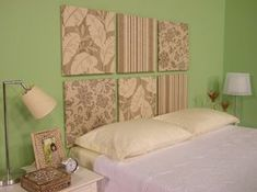 Na cabeceira da cama também fica muito moderno!