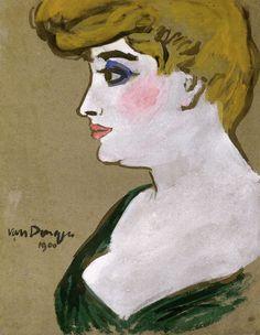 Kees van Dongen - Portrait d'une femme (1900)