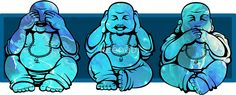 Buddhas: See no, Hear no, Speak no evil by kzenabi