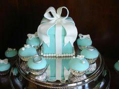 Tiffanys Style Cake & Cupcakes