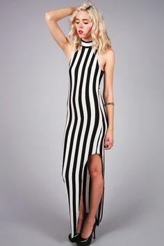 971224d84a6c  Stripe Down Maxi Dress  - PinkIce.com  maxidresses  maxidress  dresses   cocktaildresses  longdresses