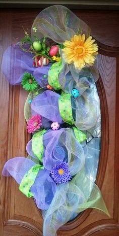 Deco Mesh Easter Swag by FANCIE