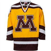 Minnesota Golden Gophers Gold Tackle Twill College Hockey Jersey
