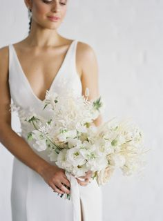 Modern and Industrial meets Soft and Feminine Wedding Style Hydrangea Bridal Bouquet, Winter Bridal Bouquets, Vintage Bridal Bouquet, Cascading Bridal Bouquets, Silk Wedding Bouquets, Wedding Flowers, White Bridal, Blue Bridal, Marie