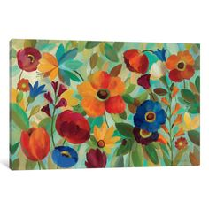 Found it at Wayfair - 'Summer Floral' by Silvia Vassileva Painting Print on Wrapped Canvas