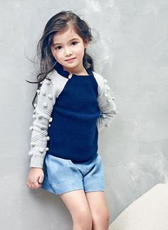 Nellystella Snowdrop Sweater in Midnight Blue - N15F102 - PRE-ORDER