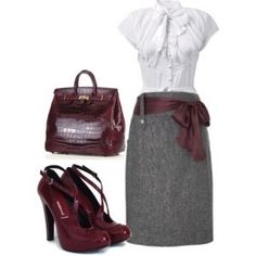 cute work outfit!! by   http://workoutfitstyles.blogspot.com