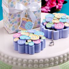 Little  Buttons Collection Curio Box Favor