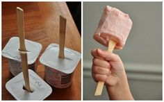 Freeze yogurt to make ice pops your kid will love. | 33 Life-Changing Food Hacks Every Parent Needs To Know
