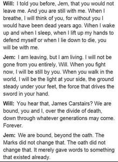 Will Herondale & Jem Carstairs~ Parabatai Heronstairs. And now I want to cry Book Tv, Book Nerd, Will Herondale Quotes, I Love Books, Good Books, Nos4a2, Cassie Clare, Cassandra Clare Books, The Dark Artifices
