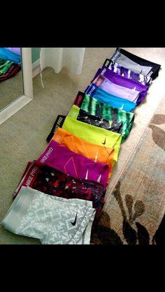 Nike pro shorts.. I want all of them