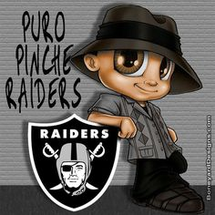 Puro Pinche Raiders Raiders Stuff, Raiders Girl, Raiders Wallpaper, Oakland Raiders Football, Lowrider Art, Dope Cartoons, Brown Pride, Bo Jackson, Nfl Logo