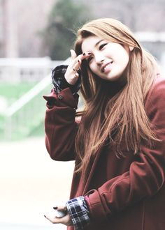 Suzy (수지) | Ox Blood & Navy Plaid.