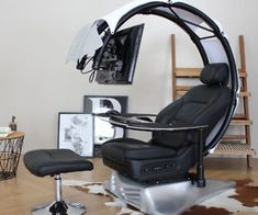 The Ultimate Computer Station - Gamer House Ideas 2019 - 2020 Ergonomic Computer Workstation, Small Leather Chairs, Couch Storage, Chaise Gaming, Gaming Chair, Computer Station, Wrought Iron Patio Chairs, Dining Chair Slipcovers, Chair Cushions