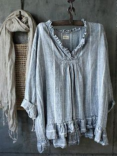 Long Sleeve Sweater, Long Sleeve Tops, Striped Linen, Striped Shirts, Casual Tops For Women, Women's Casual, Shirt Sleeves, Types Of Sleeves, Shirt Blouses