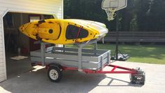 Kayak Storage Trailer 56 Ideas For Camping Trailer Diy Adventure Camping Photo, Canoe Camping, Canoe And Kayak, Kayak Fishing, Camping Gear, Diy Camping, Ocean Kayak, Camping Trailer Diy, Kayak Trailer