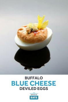 Buffalo Blue Cheese Deviled Eggs Recipe from Serious Eats Egg Recipes, Appetizer Recipes, Cooking Recipes, Cold Appetizers, Appetizer Ideas, Brunch Recipes, Serious Eats, Super Bowl Finger Foods, Recipes