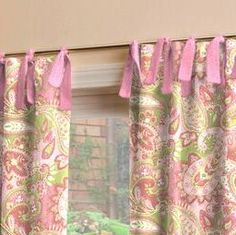 pink and green paisley- I would like this for a shower curtain in Sanibel's bathroom.