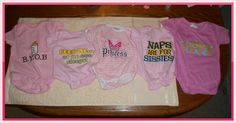 One Busy Mama and Teacher: Baby Girl Onesies
