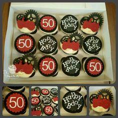 Tractor birthday cupcakes