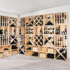 Modular wine rack system VINCASA in & # Wine racks wood .- Modulares Weinregalsystem VINCASA in & # Weinregale Holz & # – Weinkel… Modular wine rack system VINCASA in & # Wine racks wood & # – wine cellar – # - Wine Cellar Basement, Wine Cellar Racks, Wine Rack Wall, Beer Cellar, Wine Shelves, Wine Storage, Home Wine Cellars, Wine Cellar Design, Wine Racks