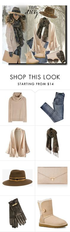 """Winter is coming!"" by barbara-gennari ❤ liked on Polyvore featuring Loro Piana, Cheap Monday, WithChic, Maison Michel, Accessorize, Moschino, UGG Australia and Linda Farrow"