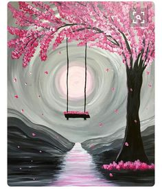 Beautiful pink tree with swing nature is wondrous! #pink #naturephotography
