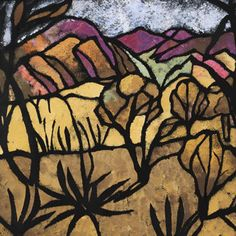 """A Mile Out of Alice Spings"" Margaret Preston Art Print by patriciannek Margaret Preston, Margaret Rose, Landscape Artwork, Landscape Drawings, Abstract Landscape, Australian Painters, Australian Artists, Australia Landscape, Woodcut Art"