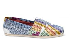 Periodic Table Men's Vegan Classics | TOMS.com #toms Mom promised me these for Christmas after I saw this girl wearing them and begged for them...They're perfect for me and all my smarticles :)